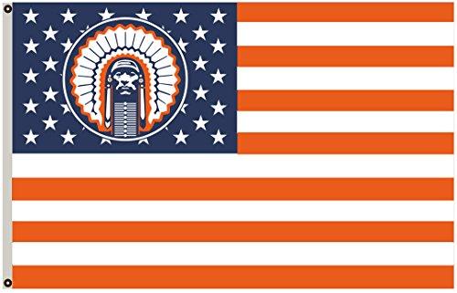 2But US Stars und Stripes Illinois Fighting Illini Chief Flagge Banner 3x 5Fuß