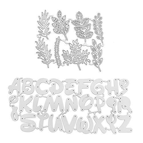 2 Piezas Troqueles Scrapbooking Metal Cortador de Corte de Flores Muere Troqueles Plantilla Troqueles En Relieve Troqueles de Corte para Tarjeta, Papel, Álbum Scrapbook, DIY