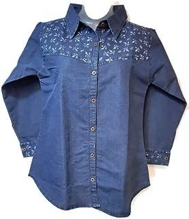 PALLAVI KOLLECTION, Casual Shirts, Fabric-Denim, Size-XL, Color-Blue, Short Length, Shirt