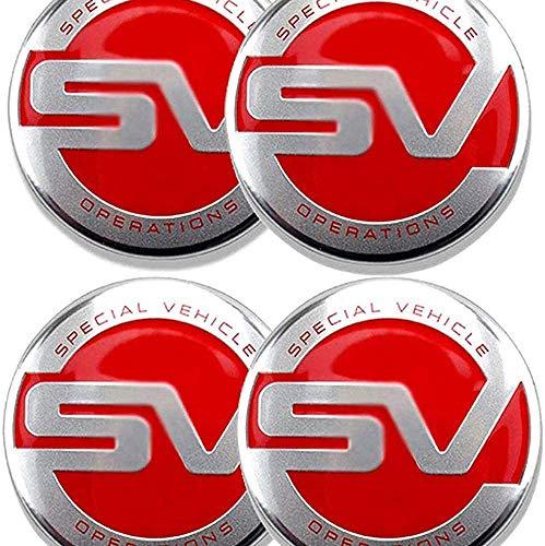 DGDD 4 Pcs Tapas Centrales para Llantas para L-a-n-d-R-o-v-e-r Sv, Coche Tapas Centrales Llanta Rueda con Logo Decoración Accesorios