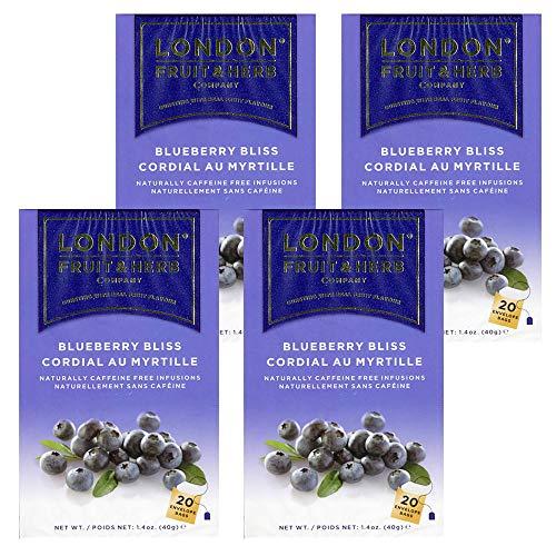 送料無料 ロンドンフルーツ&ハーブ ブルーベリーブリス (20パック入り) 4箱セット ハーブティ ティーバッグ イギリス