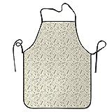 IUBBKI Delantal de Cocina Personalizado, Delantales para Mujer, Delantales Divertidos, Delantales para cocinar Pasta Tradicional Italiana Patrón Ske