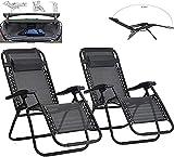 LHMYHHH Recliner 2 Piezas Set Plegable Zero Sillas Sun Tounger Recliner para Patio Patio Garden Camping