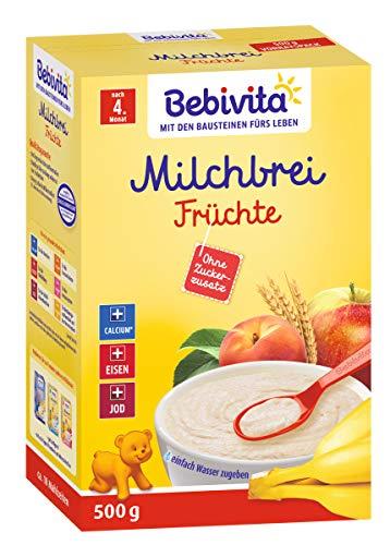 Bebivita Milchbrei Frucht, ohne Zuckerzusatz, 2er Pack (2 x 500g)