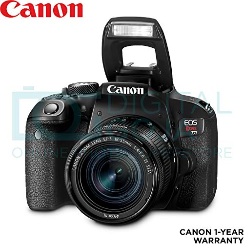 Canon EOS Rebel T7i DSLR Camera with 18-55mm is STM Lens with Altura Photo Advanced Accessory and Travel Bundle