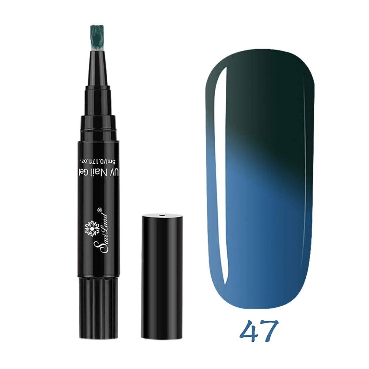 ピーク国歌組立1ステップネイルジェルペンに1 Pc 3 UV温度変更ジェルを使用するには1ステップネイル (H)