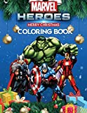 Marvel Heroes Coloring Book: Perfect Christmas Gift For Kids And Adults with High Quality Illustrations