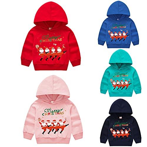 YQSR Sudadera de Navidad para beb de 2 a 7 aos, diseo de Pap Noel