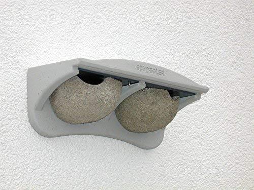 Naturschutzprodukt Schwalben Nistkasten Nisthöhle Nisthilfe Mehlschwalben-Fassadennest Typ 11 mit 2 Nestern aus Holzbeton