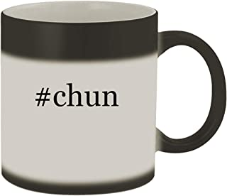 #chun - Ceramic Hashtag Matte Black Color Changing Mug, Matte Black