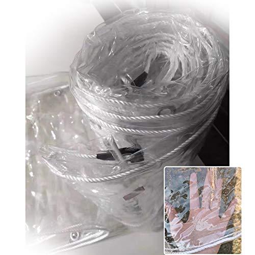 Lona MYAN Impermeable, Toldo Transparente Área del Escudo Cubrir Resistente Al Desgarro El Plastico Película Robusto para Kiosko Balcón Planta Mueble (Color : Clear, Size : 2x6m/6.6x19.7ft)