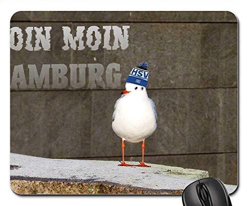 Mauspads - Möven-Vogel-Wasservogel-Kappe HSV Hamburg Collage
