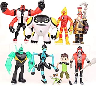 SKEIDO Children Supplies 9 Pieces Earth Defender Juvenile Hacker BEN10 Hand-made Large Super Animal Toy Doll Doll Model De...
