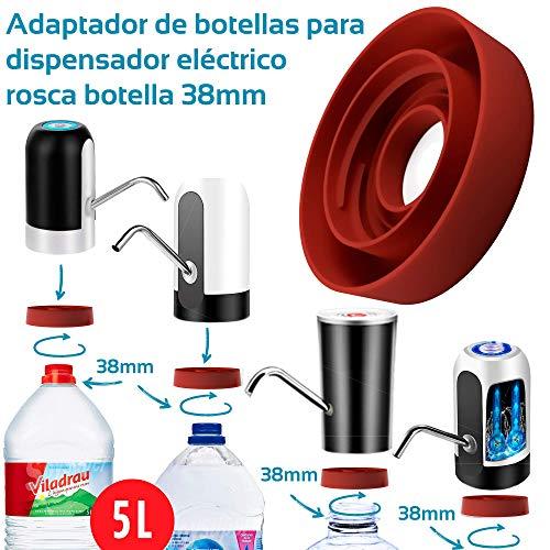 MovilCom - Adaptador de Botella para dispensador de Agua Eléctrico Compatible con Botellas 5, 6, 8, 10, 12 litros | para Botellas o adaptadores con diámetro 38mm (38mm)