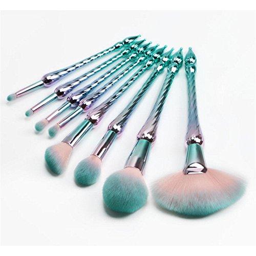 PIANZHI Make-up Set Pinsel 8 Bunte Spirale Turm Farbe Haar Pulver Lose Blush Lidschatten Make-up...