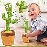 Cactus Che Balla e Ripete Peluche Dancing Cactus Danzante Giocattolo Peluche a Forma Cactus Che Canta 120 Canzoni Electrónico Shaka Danza Cactus Con Canta E Balla Toy per Bambini