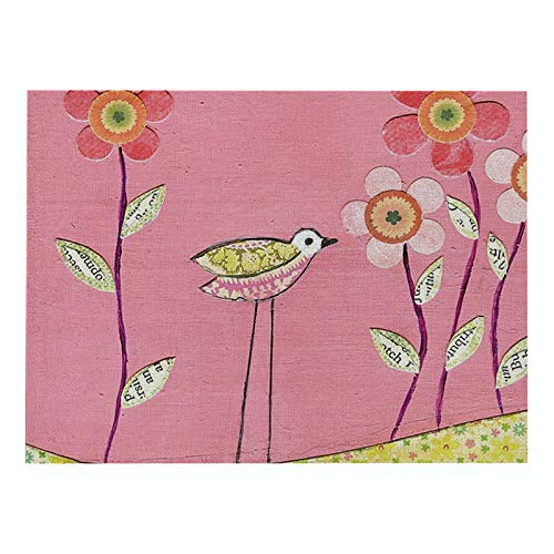 Lushi New floral printed cotton and linen square placemat water non-slip Nordic style placemat table mat