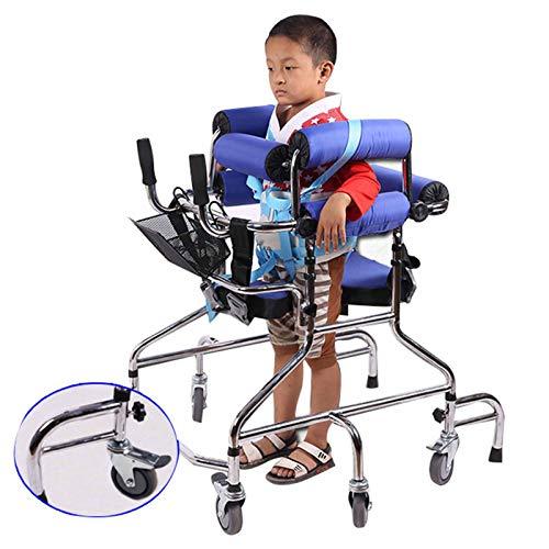 XJZHANG Bastidor de bipedestación con Ruedas para niños, 6 Ruedas con Soporte para Axilas y Asas ergonómicas, Ayuda para Caminar para discapacitados y Pacientes con Movilidad Limitada