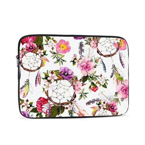 Dream Catcher Flowers Feathers Seamless Pattern Pattern 10' Inch Laptop Sleeve Case Bag Compatible with MacBook Air Pro Dell Lenovo Samsung Asus Computer Tablet Or Ipad