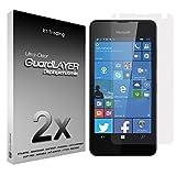 2x Microsoft Lumia 550 - Bildschirm Schutzfolie Klar Folie Schutz Bildschirm Screen Protector Bildschirmfolie - RT-Trading