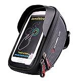 XPhonew Bike Handlebar Bag, Bicycle Phone Mount, Waterproof Cycling Frame Top Tube Pouch