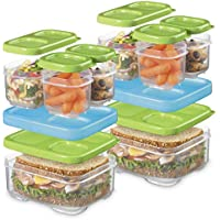 2 Pack Rubbermaid LunchBlox Sandwich and Meal Prep Set