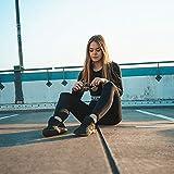 Damen Leggings Sporthose mit Hohem Bund - Yogahose Laufhose Fitnesshose Leggins Yoga Sport Leggings Tights für Damen zum Laufen, Radfahren, Fitness (2er Pack- Schwarz& pflaume, Plus Size(DE 42-48)) - 3