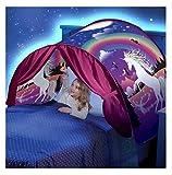 Tente De Lit Enfant Bebe Garcon Fille Princesse Enfants Tente Tunne Lit RêVe Jouer Pop Up Ciels Lit Playhouse Interieur Tent cadeau Moustiquaires Ciels de lit Kangrunmy