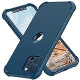 ORETECH Funda Carcasa para iPhone 12 Pro MAX 6.7 Pulgadas,con [2X Protector de Pantalla Vidrio Cristal Templado]360 Antigolpes Bumper Silicona TPU Hard PC Delgada Caso Case para iPhone 12 Pro MAX-Azul