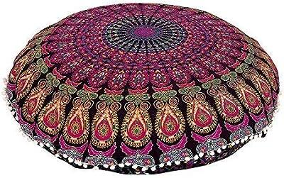 Amazon.com: Cojín asiento para piso, con manta hippie ...