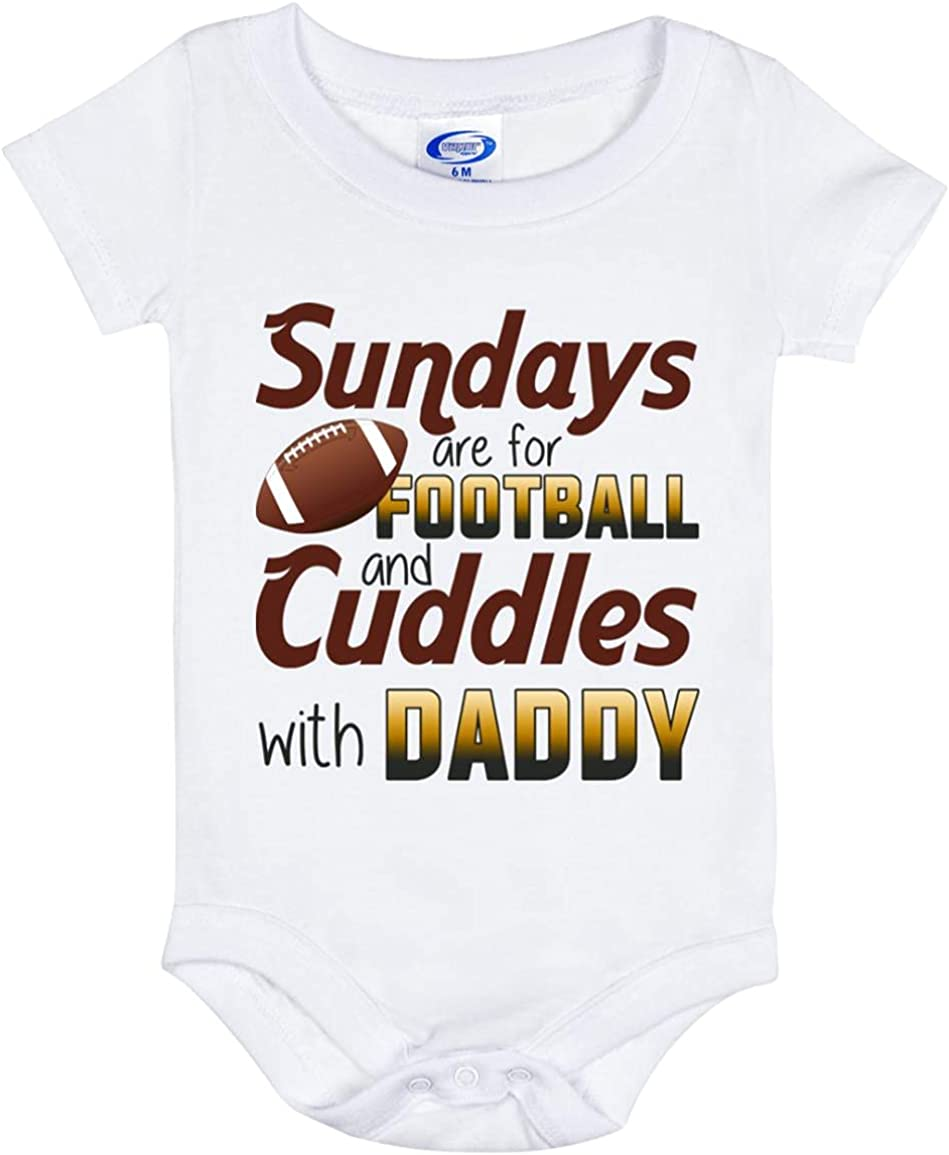 Sunday are for Football and Cuddles Directly managed store - Daddy with Bargain Onesie Baby Bab