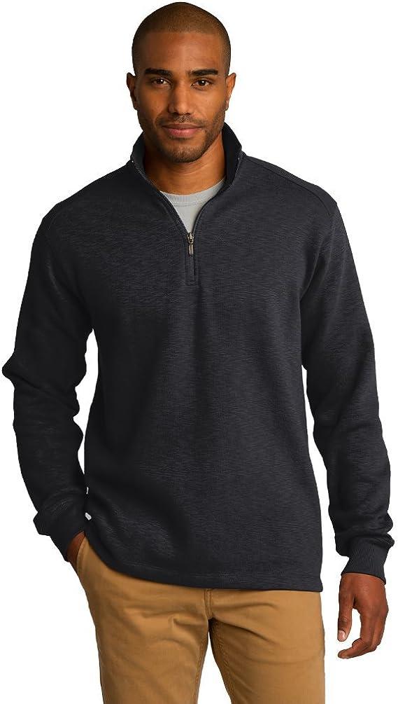 Port Authority Men's Cadet Collar Fleece 1/4-Zip Pullover Black XXXX-Large