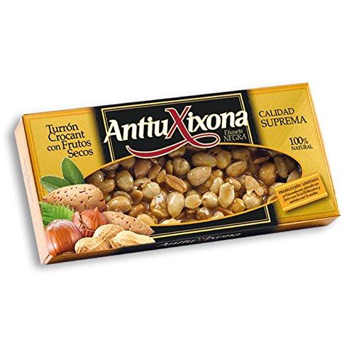 Antiu Xixona - Turrón Crocant con Frutos Secos Estuche, 150 g