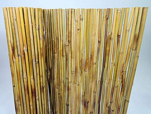 Bambuszaun, Bambus Sichtschutzmatte, Bambusmatte 200 cm H 180 cm, Vollrohr 2 cm