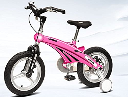 YJWOZ Kinder-fürrad, m liches Baby Baby-Wagen 12 14 16 Zoll 2-3-6 Jahre alt Kind Weißiche Modelle Magnesium-Legierung fürrad Kinderfürr r (Farbe   Rosa, Größe   14 inch)