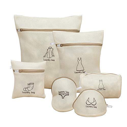 洗濯ネット ランドリーネット 洗濯袋セット 6枚入 傷み防止 絡み防ぎ 変形を防ぐ 家庭用 収納 旅行収納袋 (C04)
