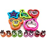 Holiday Cookie Cutters Set 18pcs, Stainless Steel Sandwich Cutters for kids Include Dinosaur, Heart, Mickey Mouse, Minnie Mouse, Star, Vegetable Cutter Shapes,Food Grade Cookie Cutter Mold
