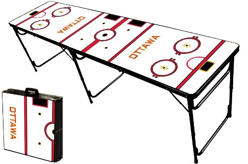 Best Buy! 8-Foot Professional Beer Pong Table - Ottawa Hockey Rink Graphic