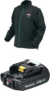 Makita DCJ200ZS 18V LXT Lithium-Ion Cordless Heated Jacket, Black, 2X-Large & BL1820B 18V LXT Lithium-Ion Compact 2.0Ah Battery