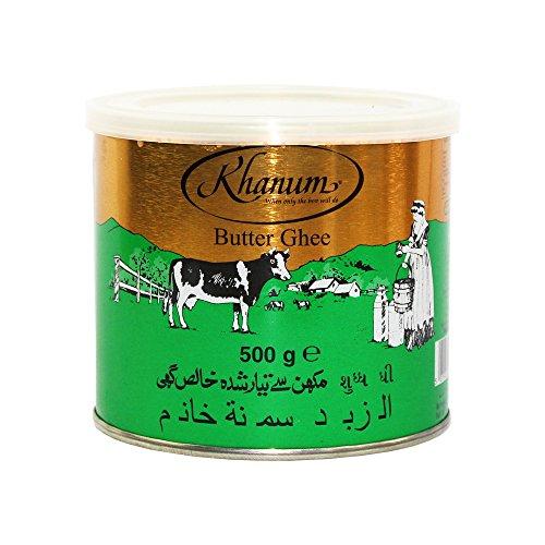 Butter Ghee - Indisches Butterfett (99,8%) zum Braten und Kochen, 4 x 500g [als 1er, 4er und 12er Packung erhältlich]