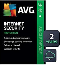 AVG Internet Security 2021 | Antivirus Protection Software | 1 PC, 2 Years [Download]