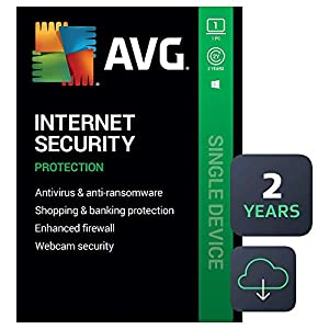 AVG Internet Security 2021   Antivirus Protection Software   1 PC, 2 Years [Download]