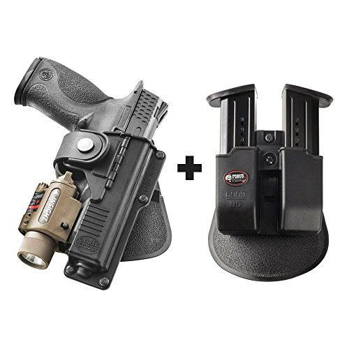 Fobus RBT19 Paddle Black Right Hand Tactical Holster Smith & Wesson M&P 9mm & .40 Cal, M&P Pro, SD9VE + 6909 ND Double Magazine Pouch