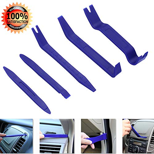 GLISTON 5pcs Auto Trim Removal Tool Car Pry Tool Kit, Door Panel Clip Removal Set for Vehicle Dash Radio Audio Installer