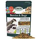 Berries & Bugs 3 lb. - All Natural High Protein High Fiber Insectivore Diet with Fruit, Gut-Loaded Insects, & Healthy Vitamins - Hedgehogs, Sugar Gliders, Skunks, Opossums & Other Insectivores
