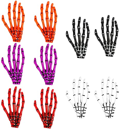 AirSMall 10PCS Skull Clip, Halloween Skeleton Hands Hair Bone with Horror, Used for Halloween Ball, Theme Party