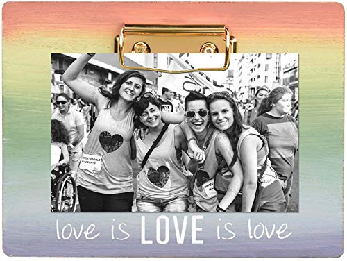 Stephanie Imports Wooden Love is Love Pride Clipboard Picture Photo Frame
