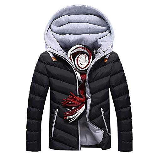 Review FengGa Mens Boys Casual Warm Winter Hat Detachable Zipper Coat Outwear Jacket Top Blouse Cott...