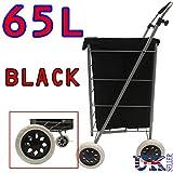 Eagle 4 Wheel Folding Shopping Mobility Trolley Bag Cart Market Laundry Wheeled Push Basket Canvas/Suede...