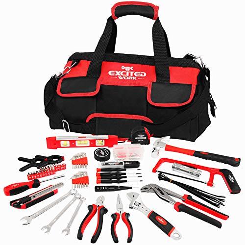 169 Piece Multi-Purpose Home Repairing Tool Set, EXCITED WORK Portable...